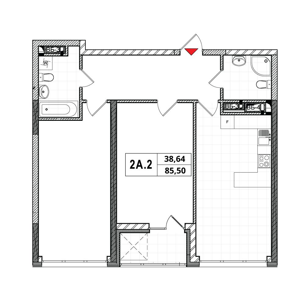План квартири 2A-2