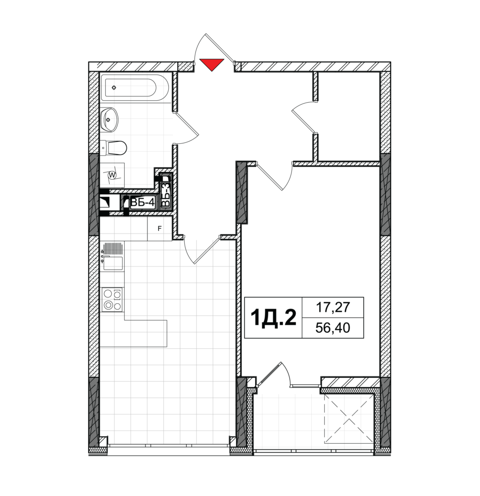 План квартири 1Д-2