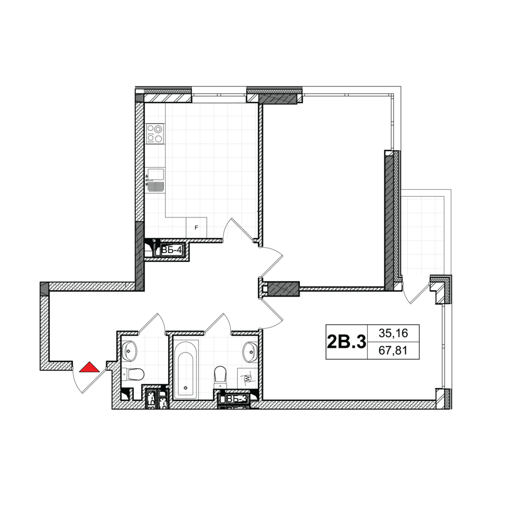 План квартири 2В-3